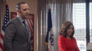 Iowa- Selina tells the team that she's hiring Keith Quinn- Veep, HBO