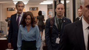 Pledge- Andrew arrives at Selina's Iowa campaign headquarters- Veep, HBO