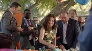 Pledge- Ben informs Selina that Kemi Talbot accidentally killed her boyfriend- Veep, HBO