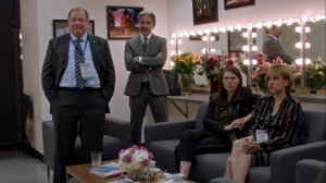 Pledge- Ben, Kent, Marjorie, and Catherine watch the debate- Veep, HBO