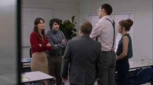 Pledge- Crawford associates listen to Jonah's apology- Veep, HBO