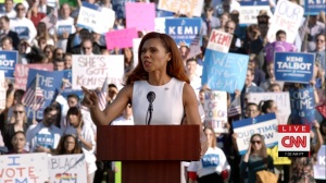 Pledge- Kemi Talbot's Iowa campaign rally- Veep, HBO