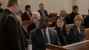 Pledge- Richard, Marjorie, and Catherine at Mayor Biscuit's funeral- Veep, HBO