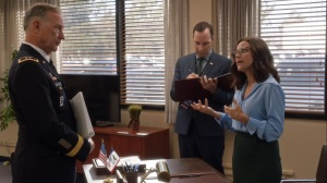 Pledge- Selina and Gary speak with General Stattler about funeral arrangements- Veep, HBO