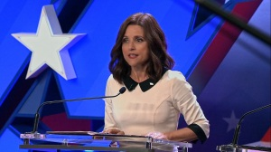 Pledge- Selina gets applause during the debate- Veep, HBO