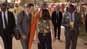 Pledge- Selina learns that other candidates have signed onto her pledge- Veep, HBO