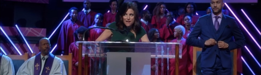 South Carolina- Selina addresses Dr. Thomas' congregation- Veep, HBO