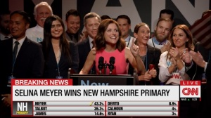 South Carolina- Selina celebrates her victory in New Hampshire primary- Veep, HBO