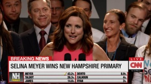 South Carolina- Selina wins in New Hampshire- Veep, HBO