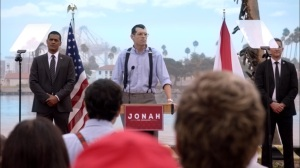 Super Tuesday- Jonah rails against Selina's age at a campaign rally- Veep, HBO
