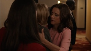 Super Tuesday- Selina hugs Catherine- Veep, HBO