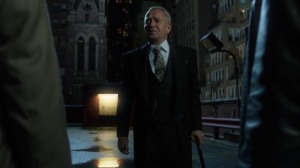 The Beginning- Alfred informs Jim and Harvey that Bruce will not be joining them tonight- Gotham, Fox