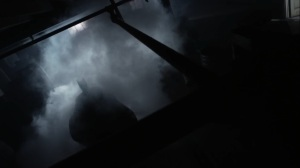 The Beginning- Costumed figure moves through the smoke- Gotham, Fox