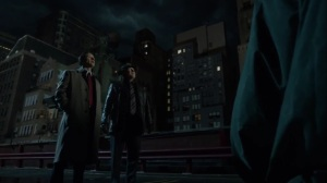 The Beginning- Jim and Harvey next to the old searchlight- Gotham, Fox