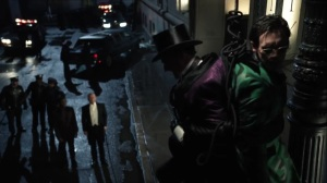 The Beginning- Penguin and Riddler tied up- Gotham, Fox