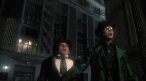 The Beginning- Riddler and Penguin spot the Batman in the sky- Gotham, Fox