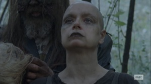 The Storm- Beta removes Alpha's mask- AMC, The Walking Dead