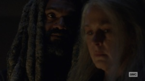 The Storm- Carol tells Ezekiel that she's going to Alexandria- AMC, The Walking Dead