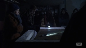 The Storm- Council proposes cutting through Alpha's border- AMC, The Walking Dead