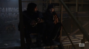 The Storm- Daryl and Carol discuss what to do with Lydia- AMC, The Walking Dead