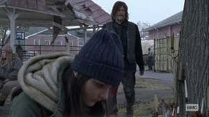 The Storm- Daryl gives Lydia some food- AMC, The Walking Dead