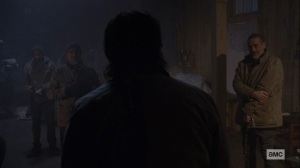 The Storm- Eugene tells everyone that they have to relocate- AMC, The Walking Dead