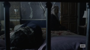 The Storm- Ezekiel and Carol mourn- AMC, The Walking Dead