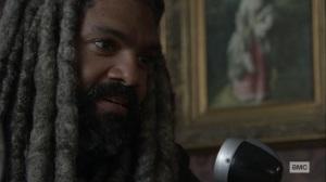 The Storm- Ezekiel talks to Judith over the radio- AMC, The Walking Dead