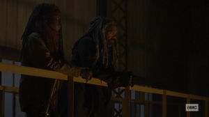 The Storm- Ezekiel tells Michonne that he wants to do right for his people- AMC, The Walking Dead