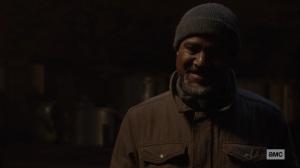 The Storm- Gabriel smiles at Negan's joke- AMC, The Walking Dead