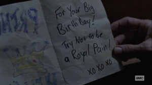 The Storm- Henry's birthday card- AMC, The Walking Dead