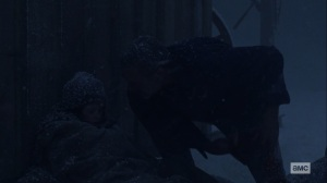 The Storm- Negan saves Judith- AMC, The Walking Dead