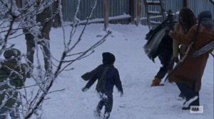 The Storm- Snowball fight in Alexandria- AMC, The Walking Dead