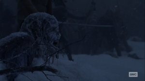 The Storm- Walkers in the snow- AMC, The Walking Dead