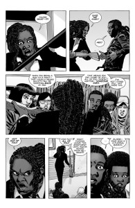 The Walking Dead #190- Michonne stops Elodie and her friends from going out to fight