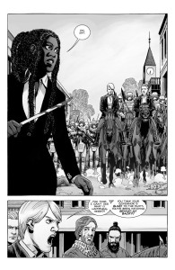 The Walking Dead #190- Pamela arrives in town and accuses Rick of trying to overthrow her