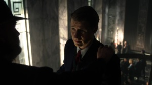 They Did What- Harvey tells Jim that he deserves the title of police commissioner- Gotham, Fox