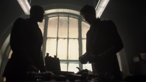 They Did What- Lucius and Bruce look over some weapons- Gotham, Fox