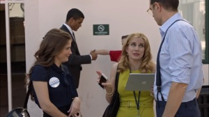 Oslo- Amy tells Jonah that his anti-vaccination message is catching on- Veep, HBO