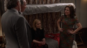 Oslo- Ben and Kent inform Selina that the White House refuses to aid her- Veep, HBO