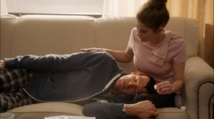 Oslo- Beth comforts Jonah, who has the chicken pox- Veep, HBO