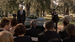 Oslo- Jonah delivers a eulogy for his father- Veep, HBO