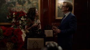 Oslo- Keith Quinn tells Selina that she has to go through him to speak with President Lu- Veep, HBO