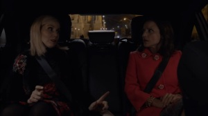Oslo- Minna tells Selina that she has to report her to Interpol- Veep, HBO