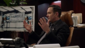Oslo- Thomas Lennon as President of CBS- Veep, HBO