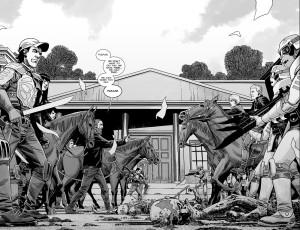 The Walking Dead #191- Pamela's army versus Rick and survivors