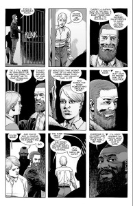 The Walking Dead #191- Rick and Mercer allow Pamela out of her jail cell