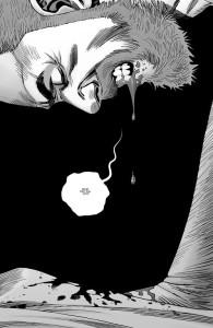 The Walking Dead #191- Rick bleeding after being shot by Sebastian