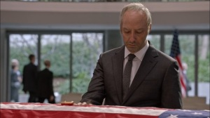 Veep- Gary next to Selina's casket- HBO