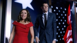 Veep- Selina and Jonah on stage- HBO